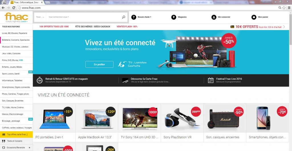 Home page fnac